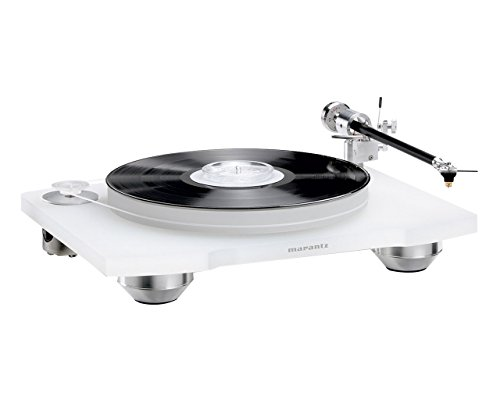 Marantz TT-15S1 Manual Belt-Drive Premium Turntable with Cartridge Included | Floating Motor for Low-Vibration & Low-Resonance | A Smart, Stylish Option for Vintage Vinyl Records, Transparent White