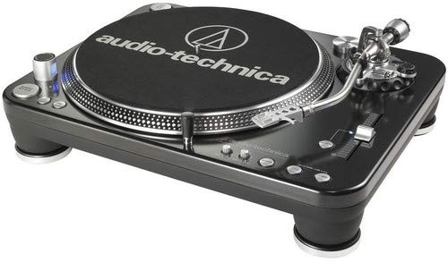 Audio-Technica AT-LP1240-USB Direct-Drive Professional DJ Turntable (USB & Analog), 3 Speed, For Demanding DJ Use, Fully Manual with Start & Stop Brake Control, Direct Drive, High Torque, Pro Anti-Resonance, Damped Die-cast Platter