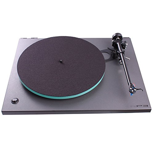 Rega RP3 Turntable with Dustcover, Elys2 Cartridge, RB303Tonearm (Cool Grey)