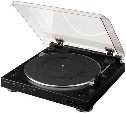 Denon DP-200USB Fully Automatic Turntable with MP3 Encoder,Black