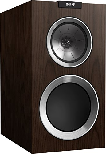 KEF R300 Bookshelf Loudspeaker - Walnut (Pair)