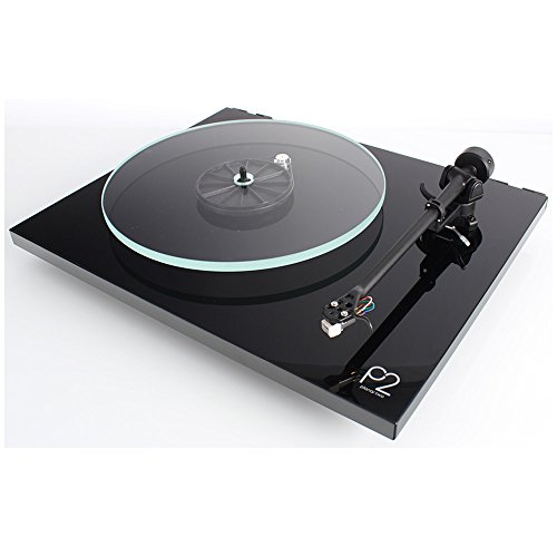 Rega Planar 2 Turntable with RB220 tonearm, Glass-platter and Carbon Cartridge (Gloss Black)