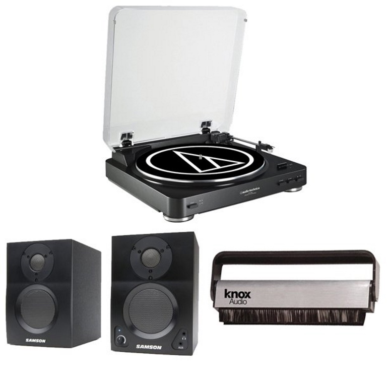 Audio-Technica-AT-LP60XBT-Bluetooth-Fully-Automatic-Turntable-(Black)-with-Samson.Bluetooth-Monitors-Review